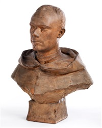 ein junger mann in mönchskutte by n. piccioli