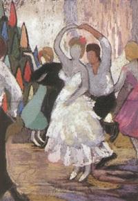 tanzendes paar by otto fischer-trachau