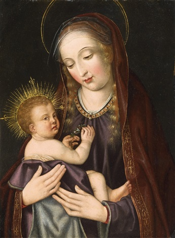 the virgin with child by flemish school 16