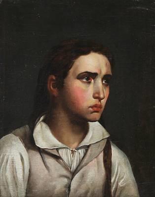 portræt af en ung kvinde after c w eckersberg by hans ditlev christian martens