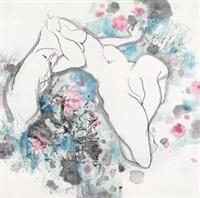 春之声 镜框 设色纸本 by lin yong