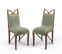 a pair of side chairs by tony selmersheim