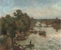 evening on the thames, barnes by robert rasell