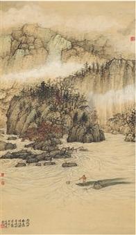 观音峡图 by wu lifu
