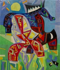 untitled (abstract horse) by gio colucci