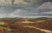 danish heath, jutland. on the plain near trehöje by charles godfredsen