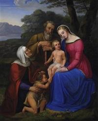 die heilige familie mit anna und dem johannesknaben by sophie reinhard