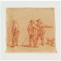 drei bauern mit hund by david teniers the younger