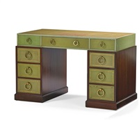 double pedestal desk by grosfeld house