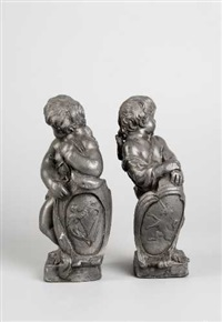 wappenhaltender putto (+ wappenhaltender putto; pair) by austrian school-vienna (18)