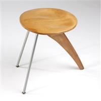 rudder stool, model in-22 by isamu noguchi