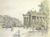 princes st, edinburgh, looking east by robert eadie