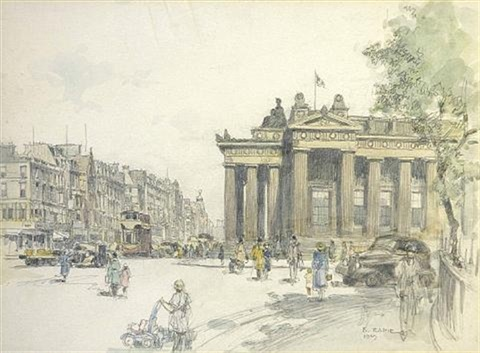 princes st edinburgh looking east by robert eadie