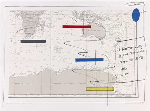 island in a storm (in 4 parts) by lawrence weiner