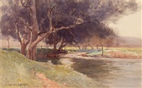 river bank by william lister-lister
