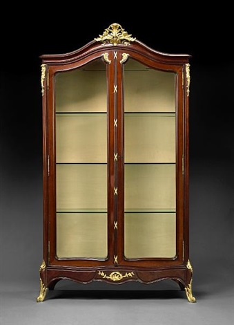 A Louis XV style vitrine by François Linke on artnet
