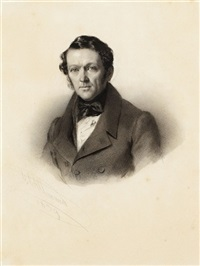 porträts: ehepaar aus frankfurt am main (pair + another portrait; 3 works) by conrad l' allemand