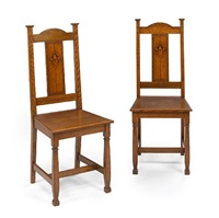 side chairs (pair) by mackay hugh baillie scott