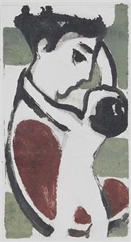 mutter mit kind (+ sitzende, lrgr; 2 works) by wilhelm lachnit