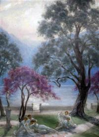 lake como by sigismund christian hubert goetze