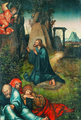 kristus i getsemane collab wstudio by lucas cranach the elder