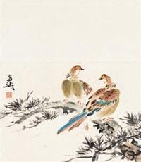 戏鸡图 (一件) by wang xuetao