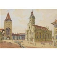berner ansicht mit heiliggeistkirche und christoffelturm by adolf methfessel