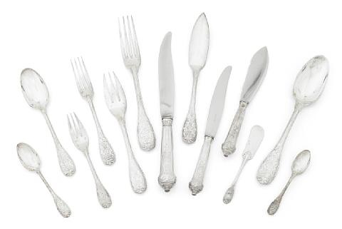 a flatware service pattern elysee set of 172 by jean emile puiforcat
