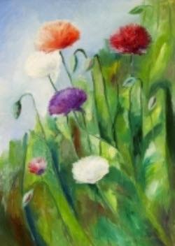 unikkoja blommor i solsken by ole kandelin