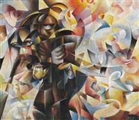 medicante e tabarin (antagonismo sociale) by tullio crali