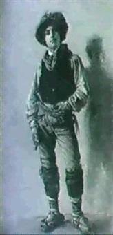 ganzfigurenportrait eines sardischen hirten. by feodor encke