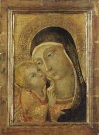 madonna mit kind vor goldgrund by sano di pietro
