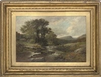 fly-fishing on the llanbedr, north wales by john bates noel