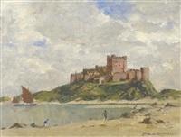 bamburgh castle by norman wilkinson
