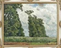 landschaft in gewitterstimmung by fritz wilhelm rabending