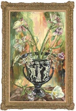 Lilies In A Grecian Vase By Jack Lawrence Miller On Artnet