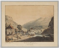 vue de la reuchenette du côté de pierrepertuis et vue de la reuchenette du côté de bienne (pair) by franz niklaus könig