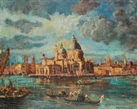 grand canal scene with the doge's palace by erno gyimesi kásás kasas