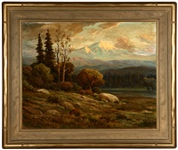 sunset in the sierras by george sanders bickerstaff
