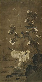 egrets and apricot blossoms by anonymous-chinese (15)