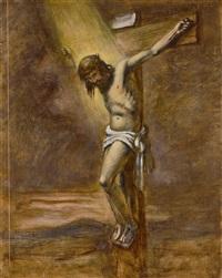 sowie mit männerportrait als schulterstück im dreiviertelprofil, in tonigen by julius herburger
