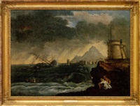 storm in the gulf of naples by michele felice cornè