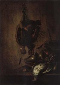 vanitasstilleben mit toten vögeln by petrus schotanus
