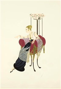 lilies and lace by erté