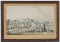 vue de genève depuis les jardins de plainpalais by jean-antoine linck