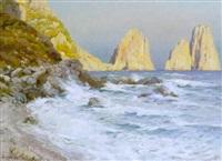 marina piccola, kystparti fra capri by kurt albrecht