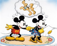 mickey, minnie et pluto by walt disney