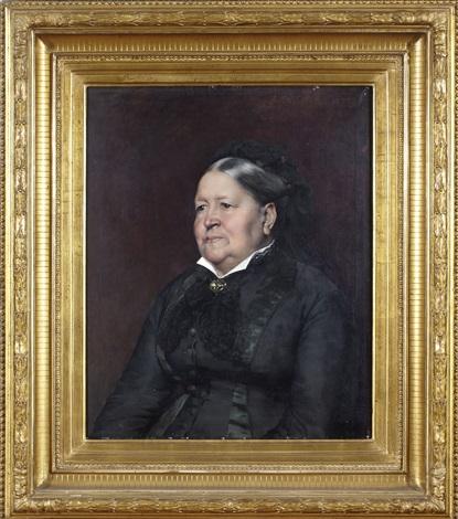 porträtt av fru eva fredrika hæggström by albert edelfelt