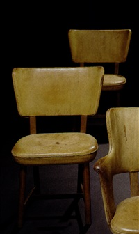 pair of chairs by tyge hvass