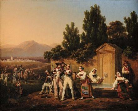 truppe napoleoniche nella campagna laziale by hippolyte lecomte